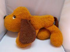 """Vintage Animal Fair Orange Dog Plush Nose to Behind 14"""" #AnimalFair"""