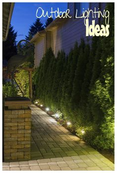 Outdoor lighting ideas- need this for our backyard. :)