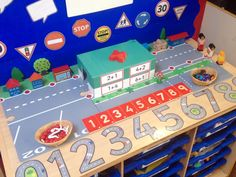 Interactive maths display - simple addition using Twinkl resources