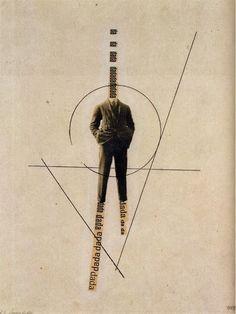 George Grosz, Dada-Bild, Photomontage and ink, 1919-1920