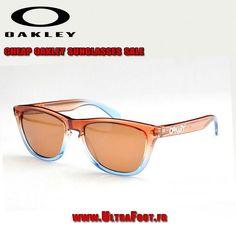 Oakley Frogskins Lunettes de soleil Crystal Brun Bleu Frame Bronz Lens  oakleys 7195 ultrafoot 930cb757a193