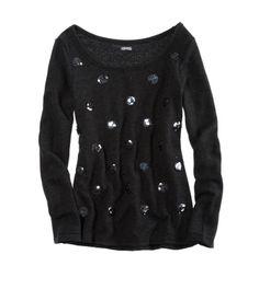 Sequin Dot Sweatshirt