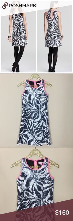 """Lilly Pulitzer Courtin Sequin Dress NWT - $268 retail tags attached, perfect condition! Lilly Pulitzer Courtin Sequin Dress. Draped in dazzling sequins and chock-full of chic, this dress captivates at cocktail hour. Roundneck, Sleeveless, all-over sequins. Keyhole back with hook closure, lined. Size 2. Bust measures 32"""", length 33"""". No modeling/trades. Lilly Pulitzer Dresses"""