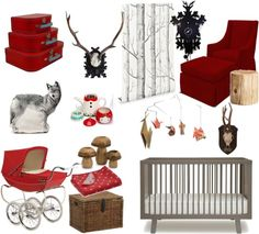 """Little Red Riding Hood Nursery"" by deuxamour on Polyvore"