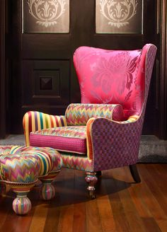 The new Kaleidoscope Accent Chair...it's a show-stopper.