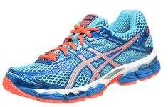 Asics Cumulus 15 Turquoise/Melon -Womens..My Newest running shoe. So far pretty awesome