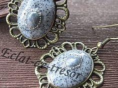 Boucles d'oreilles Baroque Gris granit
