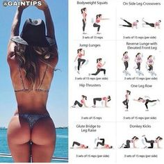 Belly Fat Workout, Butt Workout, Gym Workouts, At Home Workouts, Gym Tips, Fitness Workout For Women, At Home Workout Plan, Summer Body, Exercises