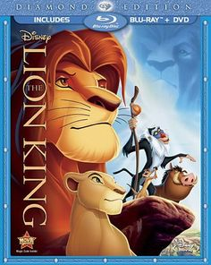 The Lion King (Two-Disc Diamond Edition Blu-ray / DVD Combo in Blu-ray Packaging): http://www.amazon.com/Two-Disc-Diamond-Edition-Blu-ray-Packaging/dp/B0036TGT3E/?tag=prob08-20