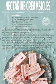 Nectarine Creamsicles