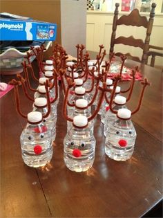 43 Beautiful Bottle Christmas Decoration Ideas 43 Beautiful Bottle Christmas Decoration 38 Reindeer Waters Reindeer Water Bottles Christmas Decorations Craft Selections by Sisters 4 School Christmas Party, Christmas Party Games, Christmas Snacks, Preschool Christmas, Homemade Christmas Gifts, Christmas Crafts For Kids, Christmas Goodies, Christmas Holidays, Christmas Classroom Treats