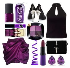 """Passion For Purple!"" by shaheenk ❤ liked on Polyvore featuring Balmain, Miss Selfridge, Cesare Paciotti, Versus, MAC Cosmetics, Christian Louboutin, Fernando Jorge, L'Oréal Paris, NARS Cosmetics and purple"