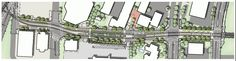 SW 3rd Ave & Lincoln St Station Plan - Portland-Milwaukie Light Rail (Orange line)