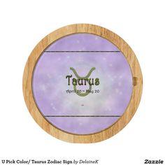 U Pick Color/ Taurus Zodiac Sign Cheese Platter