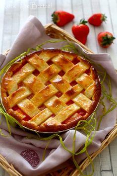 Tourte fraise rhubarbe
