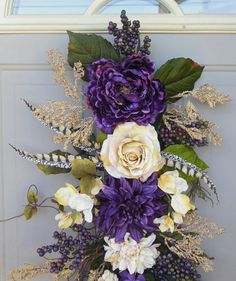 Spring+/+Summer+Grapevine+swag+wreath+++Spring's+Here+All+by+bndd,+$68.00