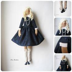 Пришло время показать куколку целиком. Блондинка в пышном синем.... Не продается, возможен приблизительный повтор #назаказ #новаякукла