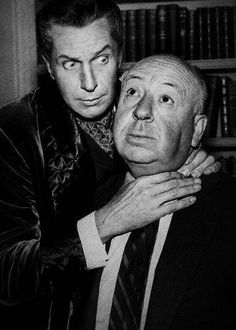 Vincent Price and Alfred Hitchcock I miss them Old Hollywood Movies, Classic Hollywood, Hollywood Glamour, Dramas, Dr Phibes, Horror Posters, Horror Icons, Classic Horror Movies, Famous Monsters