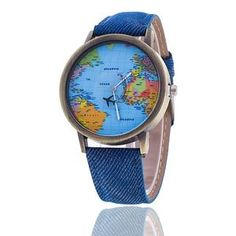 Unisex World Map Design Analog Quartz Watch Style: Casual. Watchcase Diameter: Band Length: Band Width: about Package Include: Unisex World Map Design Analog Quartz Watch Leather Fashion, Leather Men, Leather Case, Map Watch, Watch F1, World Map Design, Artificial Leather, Unisex, Second Hand