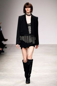 Isabel Marant brings out the punk style with this total black look