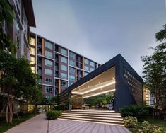 D Condo Campus Resort at Bangsaen by Sansiri Wison Tungthunya W Workspace Entrance Design, Gate Design, Facade Design, House Design, Entrance Gates, Main Entrance, Marquise, Facade Architecture, Contemporary Architecture