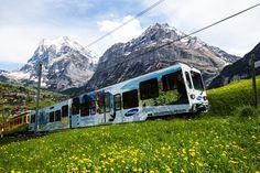 스위스 산악철도 아슬아슬하네