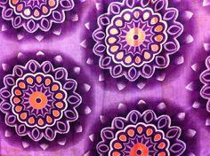 African Wax Print Fabric by the HALF YARD.  Purple by MoreLoveMama, $4.50