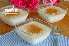 Tam Kıvamında Sütlaç Tarifi (videolu) - Nefis Yemek Tarifleri Pudding, Vegan, Glass Of Milk, Snacks, Vegetables, Fruit, Desserts, Anne, Allah