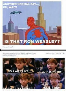 Ron and Spiderman :)