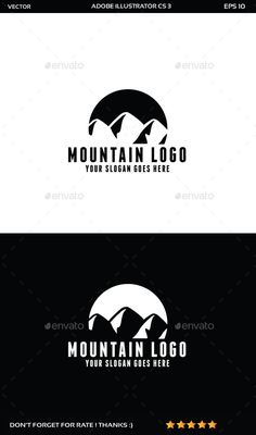 Mountain - Logo Design Template Vector #logotype Download it here: http://graphicriver.net/item/mountain-logo/11754576?s_rank=748?ref=nexion