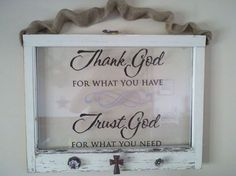Items similar to Repurposed old windows turned into beautiful displays of inspirational quotes, picture frames, wreath hangers, etc. on Etsy Old Window Crafts, Old Window Decor, Old Window Projects, Window Art, Vinyl Projects, Diy Projects To Try, Window Panes, Window Ideas, Windows Decor