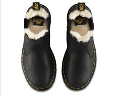 Martens Leonore Fur Lined Chelsea Boot 6 Dr. Martens, Chelsea Boots Style, Mens Work Shoes, Hipster Shoes, Cute Shoes, Awesome Shoes, Slip On Boots, Tomboy Fashion, Fashion Forward