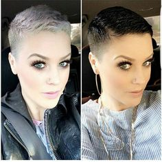 "7,914 Likes, 431 Comments - Short Hair Pixie Cut Boston (@nothingbutpixies) on Instagram: ""Which colour do you like better?.. Left or right on @katiezimbalisalon"""