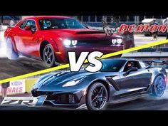 2021 Corvette Zr1 Vs Dodge Demon - Car Wallpaper