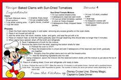 Disney Themed Food, Disney Inspired Food, Disney Food, Disney Ideas, Disney Menus, Disney Recipes, Restaurant Recipes, Seafood Recipes, Cartoon Recipe