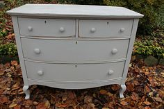 Dresser made over using homemade Chalk Paint. It looks great!