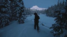 Mountain /Silhouette Government Camp, Timberline Lodge, Mountain Silhouette, Before Sunrise, Winter Camping, Under The Stars, Go To Sleep, Weekend Trips, Taking Pictures