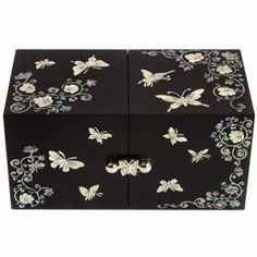 Korean Gift Ideas: Korean Traditional Mini Jewelry Boxes (나전 송학 미니쌍합보석함) | AKIA Talking : Korean Drama Critic