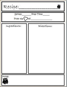 free printables 4 layouts for full page recipe book binder craft your ass off pinterest. Black Bedroom Furniture Sets. Home Design Ideas