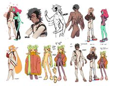 Various Character Designs, Manda Schank on ArtStation at https://www.artstation.com/artwork/Xv2RR