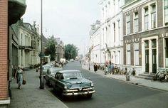 Wierdensestraat, met rechts in het witte pand, het toenmalige stadhuis. Jpg, Old Town, Netherlands, Street View, 1960s, Photography, Old City, The Nederlands, The Netherlands
