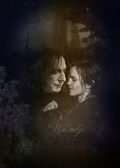 Click to enlarge - Professor Snape (Alan Rickman) [R.I.P] and Hermione Granger (Emma Watson) from the Harry Potter movies.