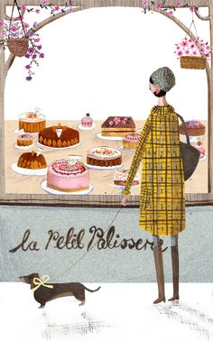 How every woman should live life; walking a dachshund and contemplating cake!