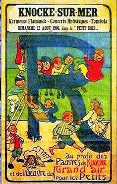 Vintage Travel Poster - Knocke-Sur-Mer - Belgium.