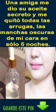 Con este aceite puedes eliminar todas las arrugas y manchas oscuras de la cara en solo 5 noches.