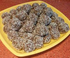 Zabpelyhes kókuszgolyó Healthy Desserts, Delicious Desserts, Healthy Recipes, Hungarian Recipes, Health Eating, Bon Appetit, Healthy Lifestyle, Paleo, Recipies