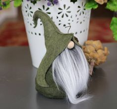 Elf Nordic Gnome Friend Gifts Gnome Gifts Elf Fairies Felt Christmas Ornaments, Christmas Gnome, Christmas Projects, Christmas Ideas, Beard Colour, Gnome Hat, Scandinavian Gnomes, Hat Tutorial, Fabric Dolls
