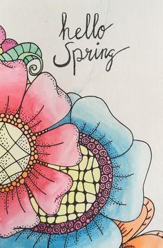Handlettering #flowers #hellospring #waterbrush