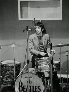 """Every time I went to get a cup of tea, he was on my drums!""-  Ringo Starr"