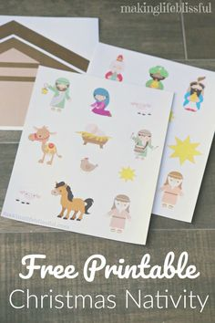 Free printable nativity and printable family service cards. Christmas Crafts For Toddlers, Toddler Christmas, Christmas Activities, Advent Activities, Christmas Nativity Scene, Nativity Crafts, Nativity Scenes, Printable Christmas Cards, Kids Cards
